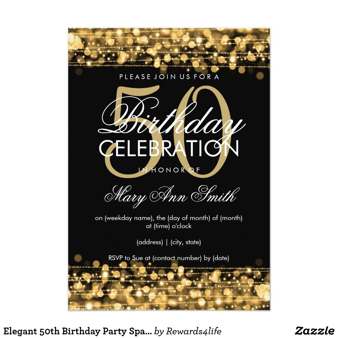 Create your own Invitation 50th birthday