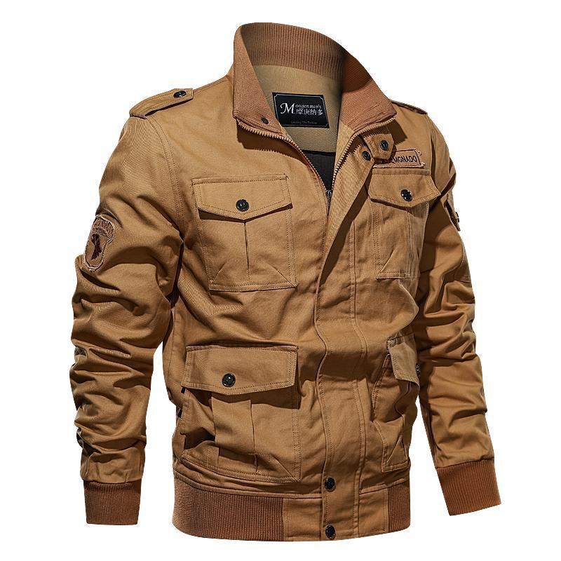 Cotton Military Jacket Men MA1 Style Army Jackets Multi