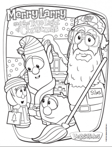 Free Coloring Sheet Printable A Merry Larry And The True Light Of Christmas Veggietales Bible Coloring Pages Operation Christmas Child Christmas Bazaar Ideas