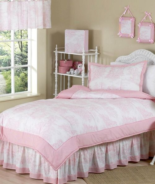 Classic Pink And White French Toile Gingham Girls Bedding Set By Sweet Jojo Designs 4pc Twin Baby Sets Affordable Apartment