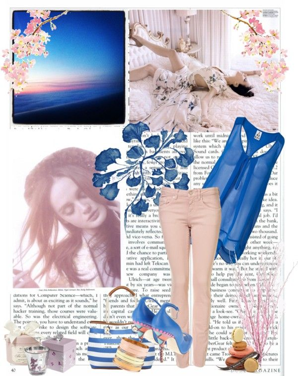 something pink and blue, created by meghan-dubois on Polyvore