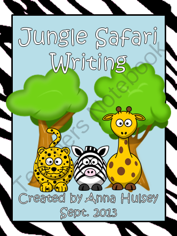 Jungle Safari Writing from Teach, Learn, & Love on TeachersNotebook.com -  (35 pages)  - This packet will be useful for many different kinds of writing lessons, reading lessons, and even language arts lessons. Packet essentially has 10 pages in 3 different themes (zebra, giraffe, and leopard). Pick one theme as a class, or let students have a