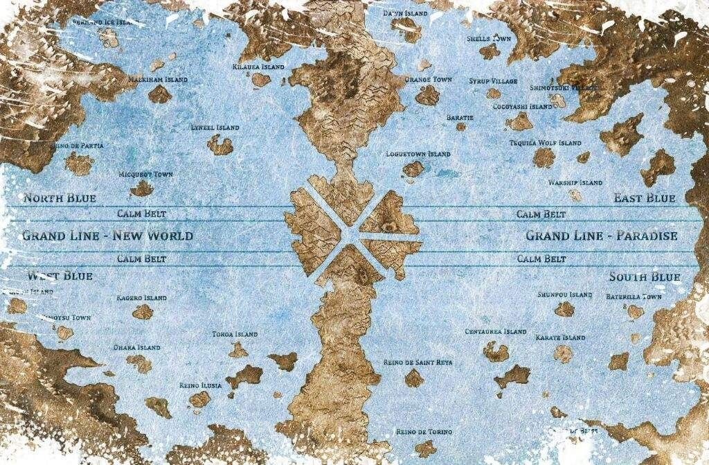 Map Of The World Of One Piece.One Piece World Map New World Mapa Del Mundo De One Piece Anime