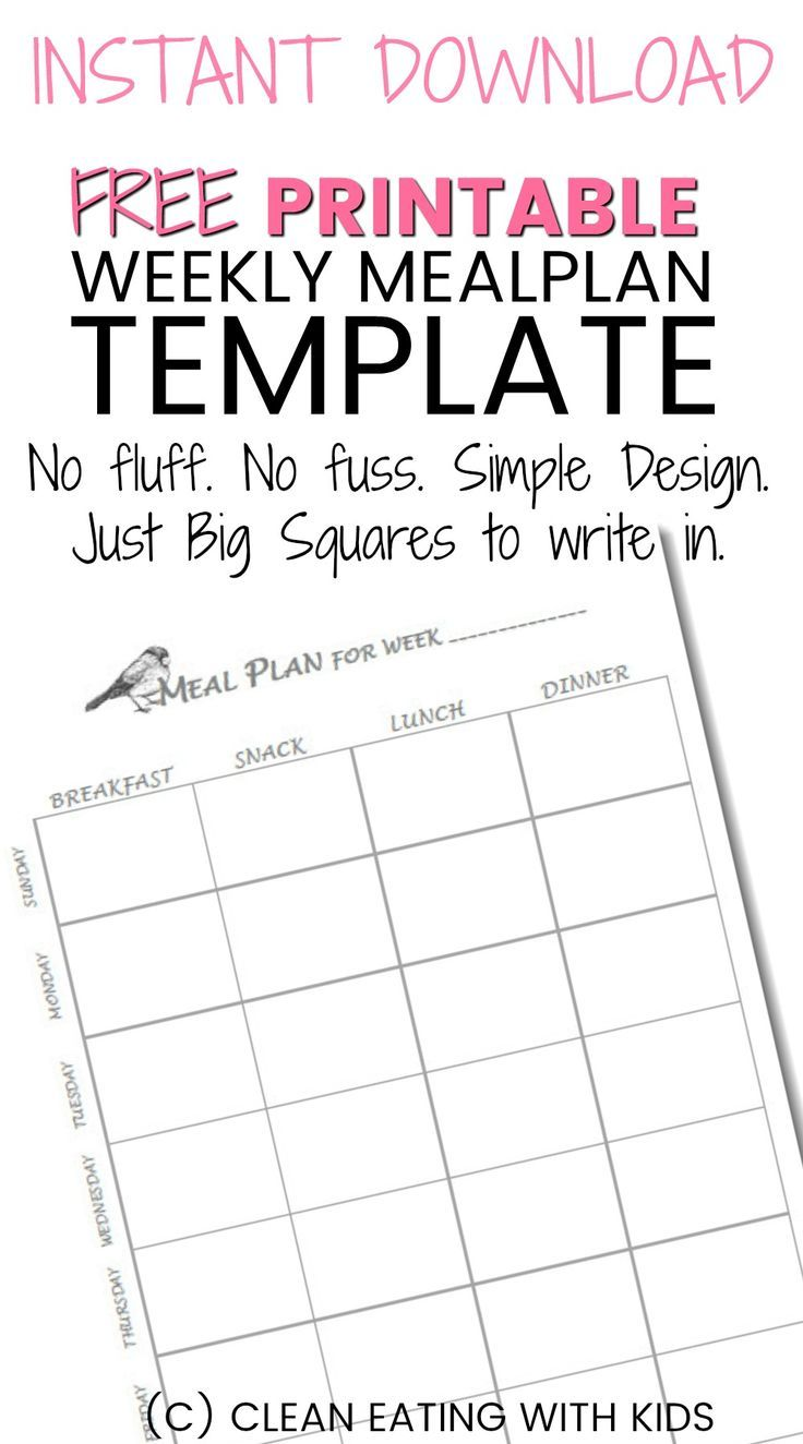 You are going to love this simple. no fluff meal plan