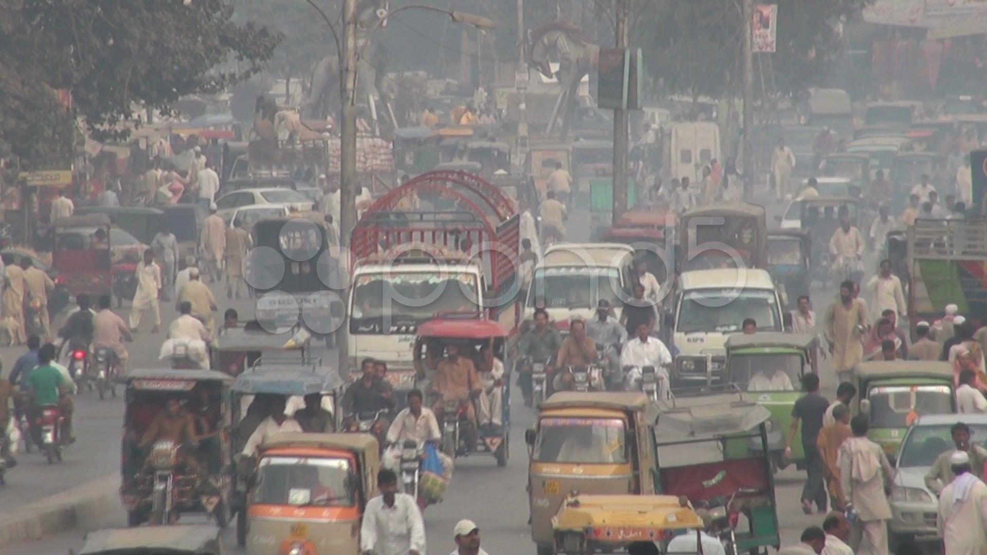 Busy road in Lahore, Pakistan Stock Footage,Lahoreroad