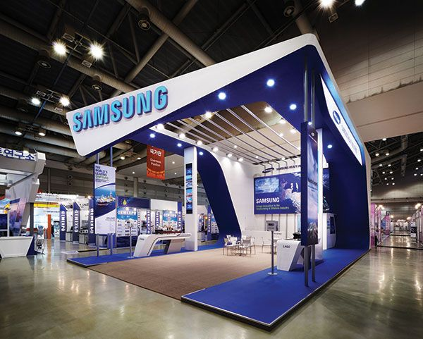 Samsung Exhibition Stand Design : First impressions matter creating a visual impact