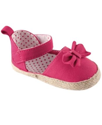 Luvable Friends Girls Bow Espadrille Sandal