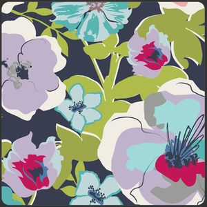 Cotton Art Deco Art Gallery Fabrics Fabric By the Yard CARNABY STREET Ladylike Black Tea CST-3107 Pat Bravo Floral Fabric Quilting