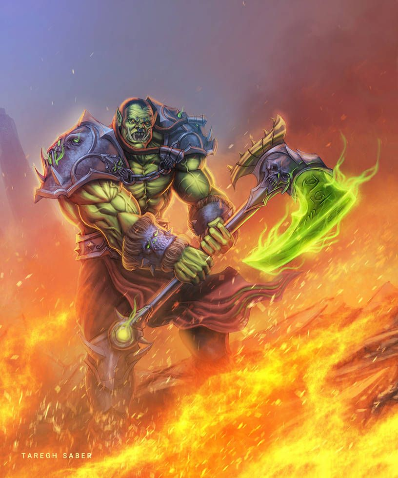 Orc warrior wow video process and tutorial by https