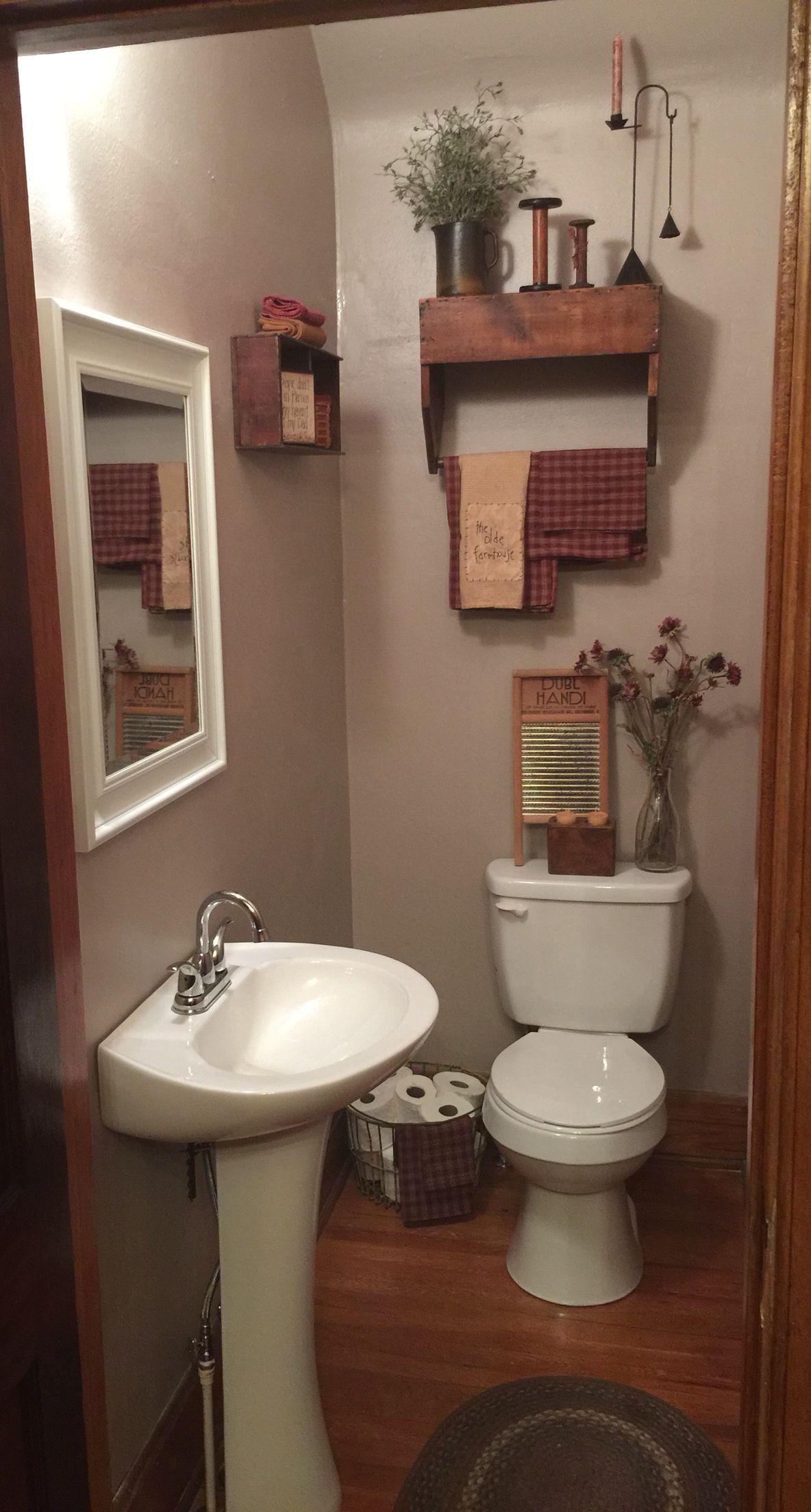 Hall Closet Turned Into Primitive Half Bath Upstairs Bathrooms Small Half Bathrooms Basement Bathroom Design