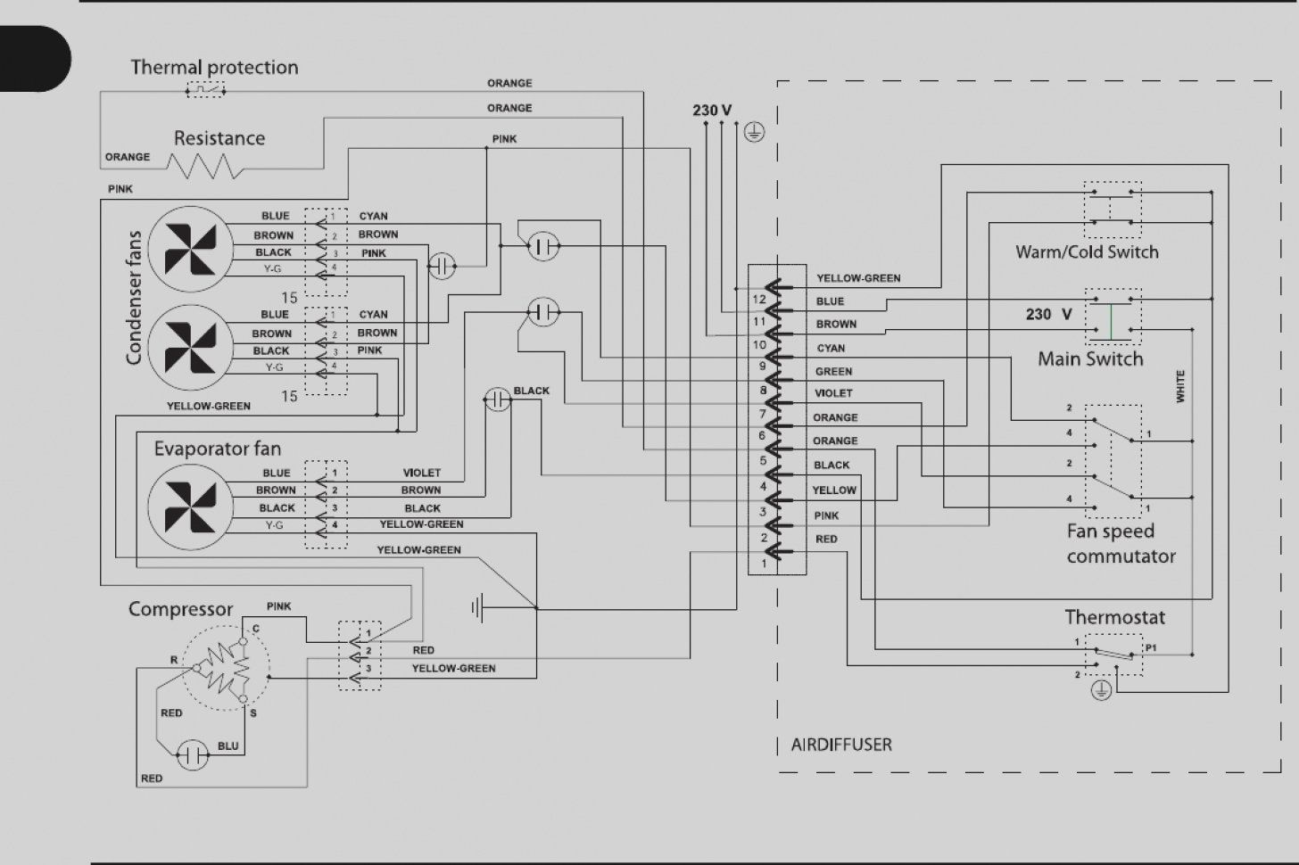 A C Schematic Wiring Diagram