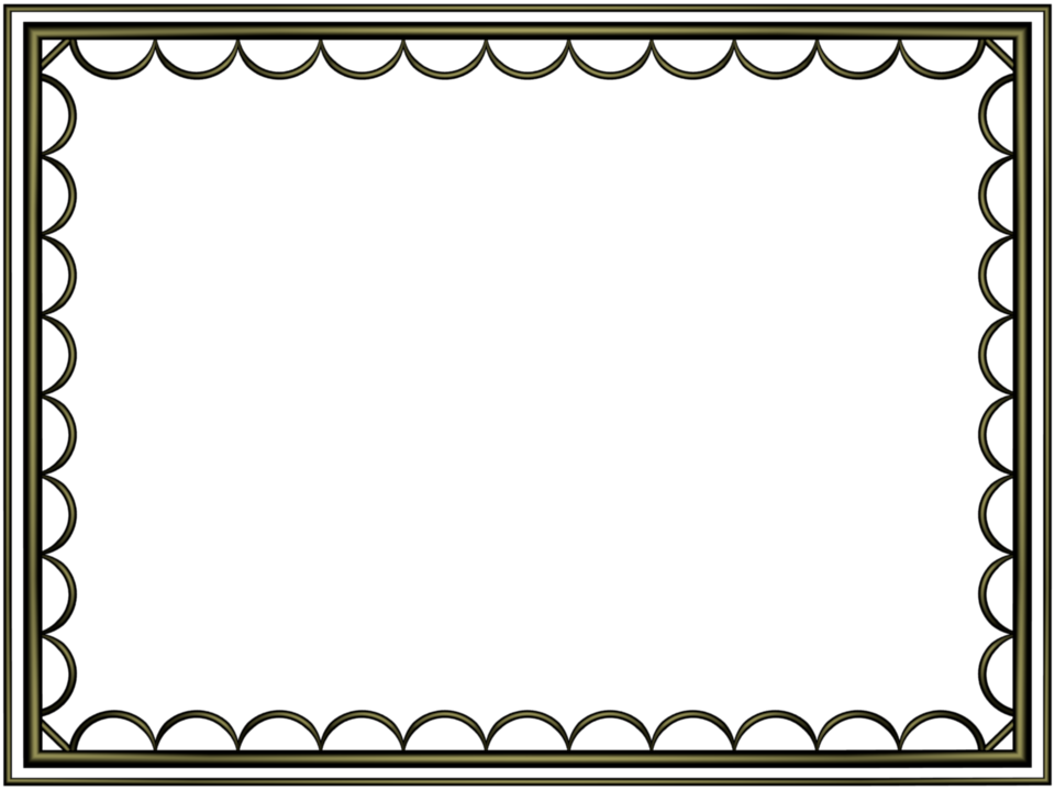 Decorative Text Box Borders Black Border Png  Shiny Black Artistic Loop Rectangular