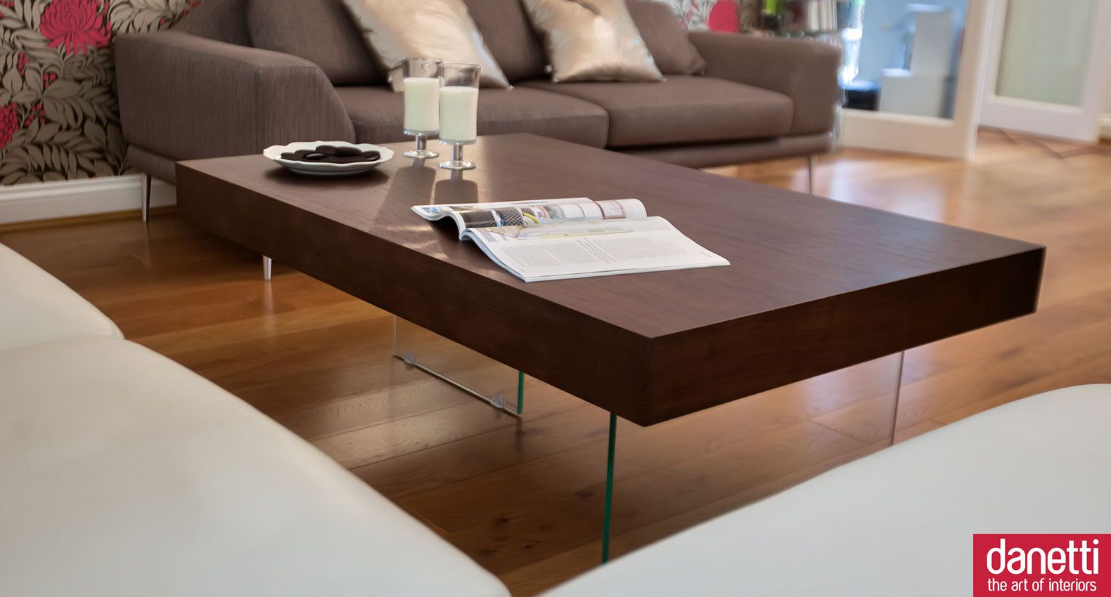Aria Large Espresso Dark Wood Coffee Table Coffee Table Wood