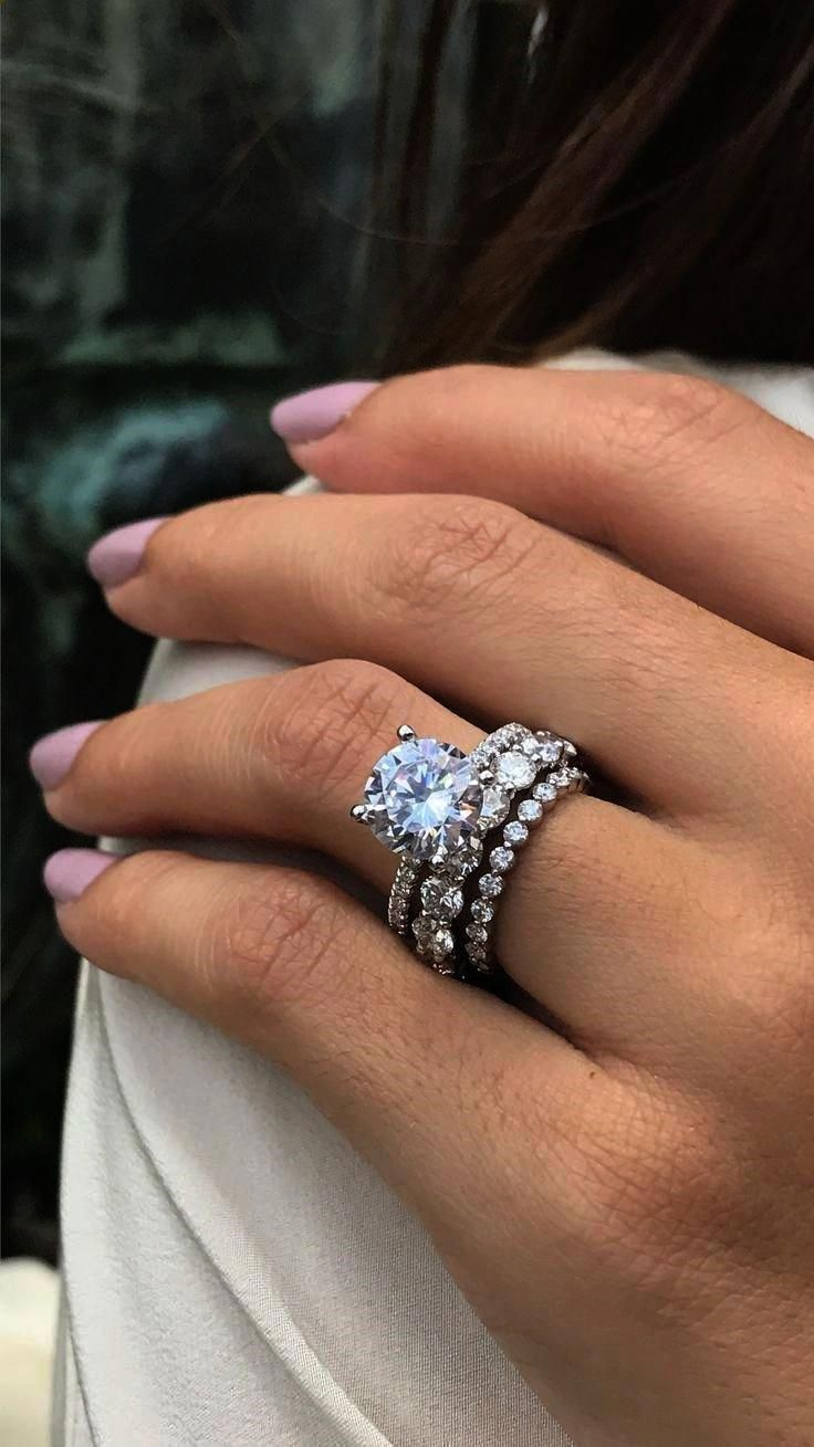 Get Some Best Engagement Rings Under 500 D Platinumweddingring Stacked Wedding Rings Round Solitaire Engagement Ring Engagement Rings Round