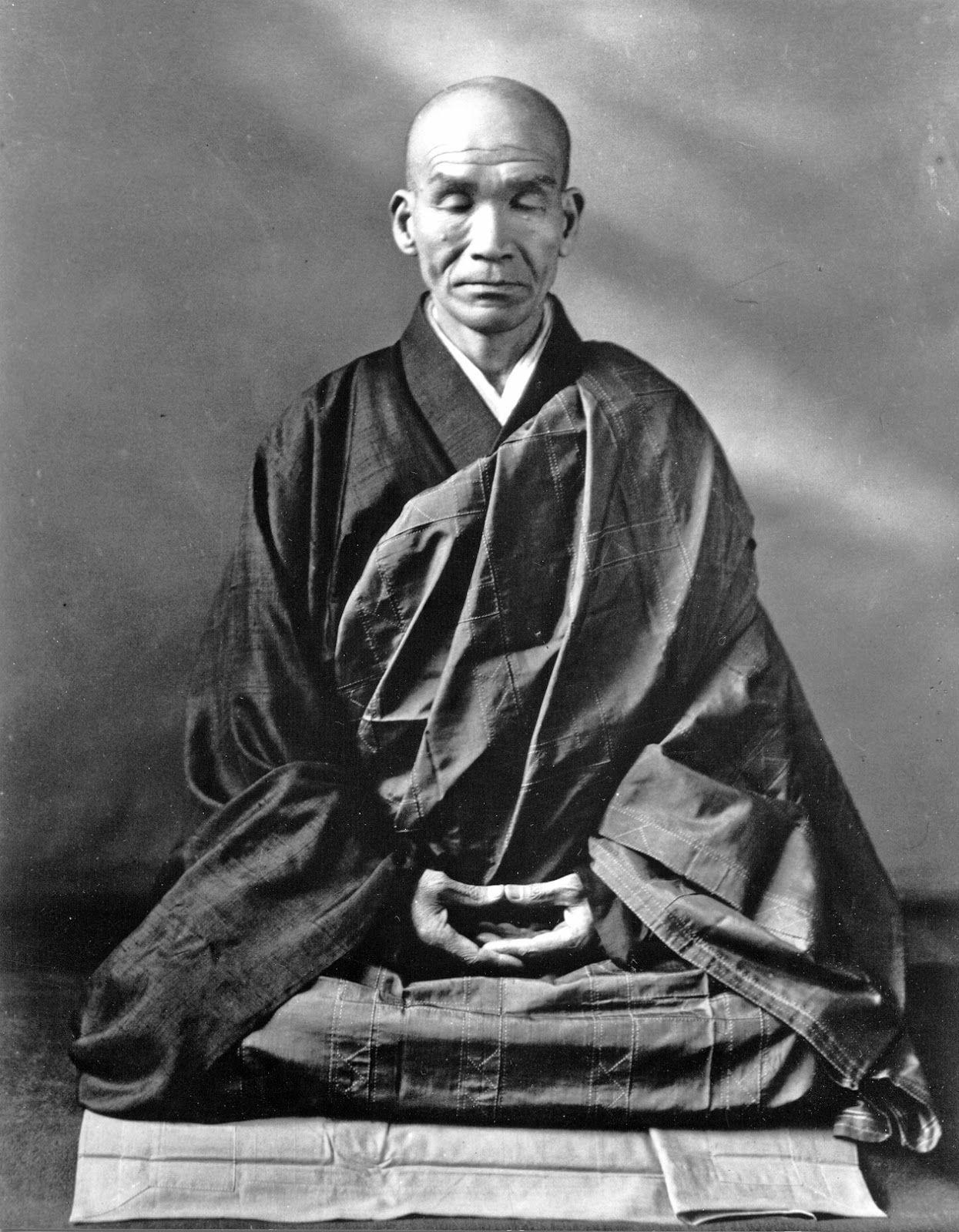 Kodo Sawaki In Zazen Dhyana Mudra Meditation Gesture