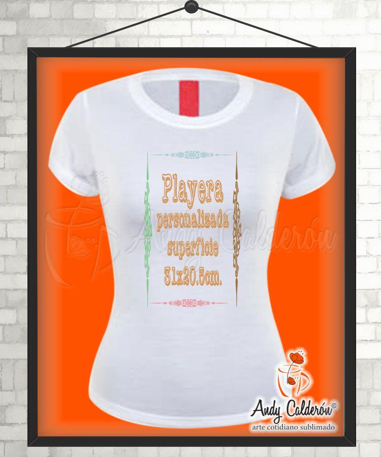 Playera Dama Cuello Redondo para Personalizar con Sublimación ... 91ca1ed8aa9d4