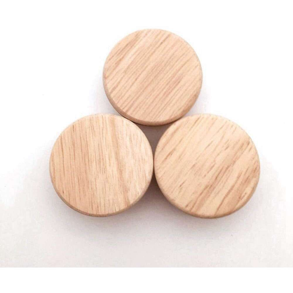 Mllaid Natural Wooden Handle Knobs Round Pulls with Cup …