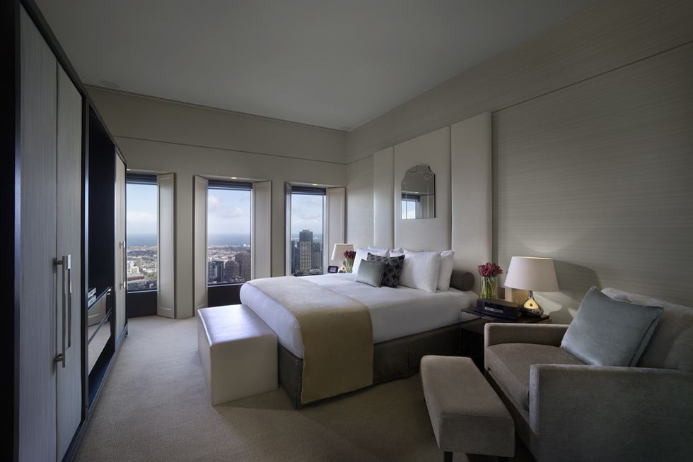 Sofitel Melbourne On Collins Level 50 Ambassador Suite Luxury Accommodation Amazing Hotels Rooms Modern Master Bedroom