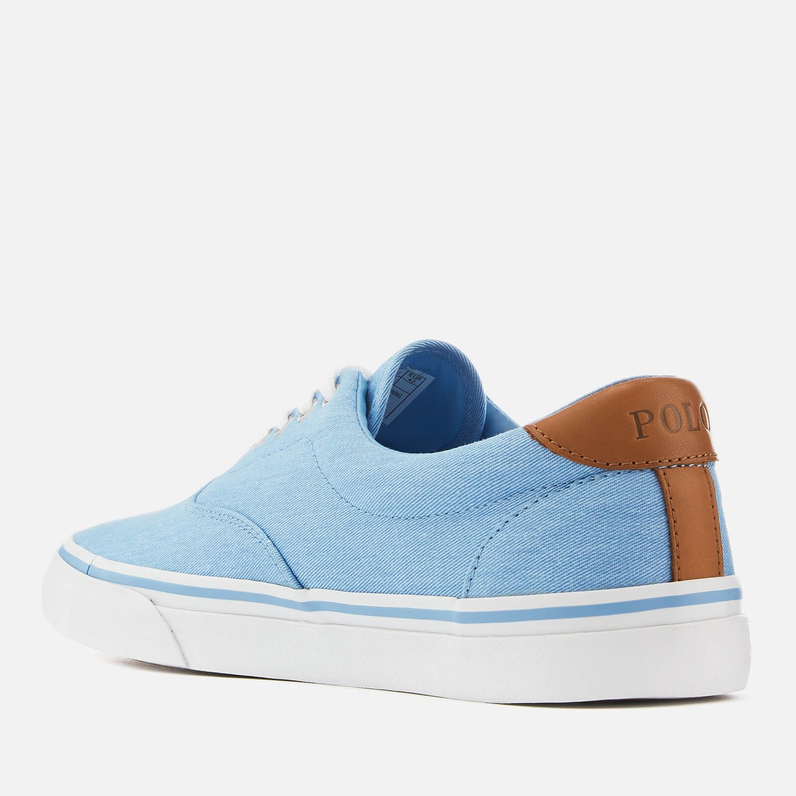 9e49b49f7a Polo Ralph Lauren Men's Thorton Washed Twill Vulcanised Trainers ...