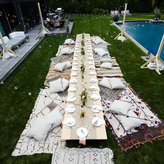 10 Images About Athena Calderone On Pinterest: How To Throw A Charming Outdoor Bohemian Bash