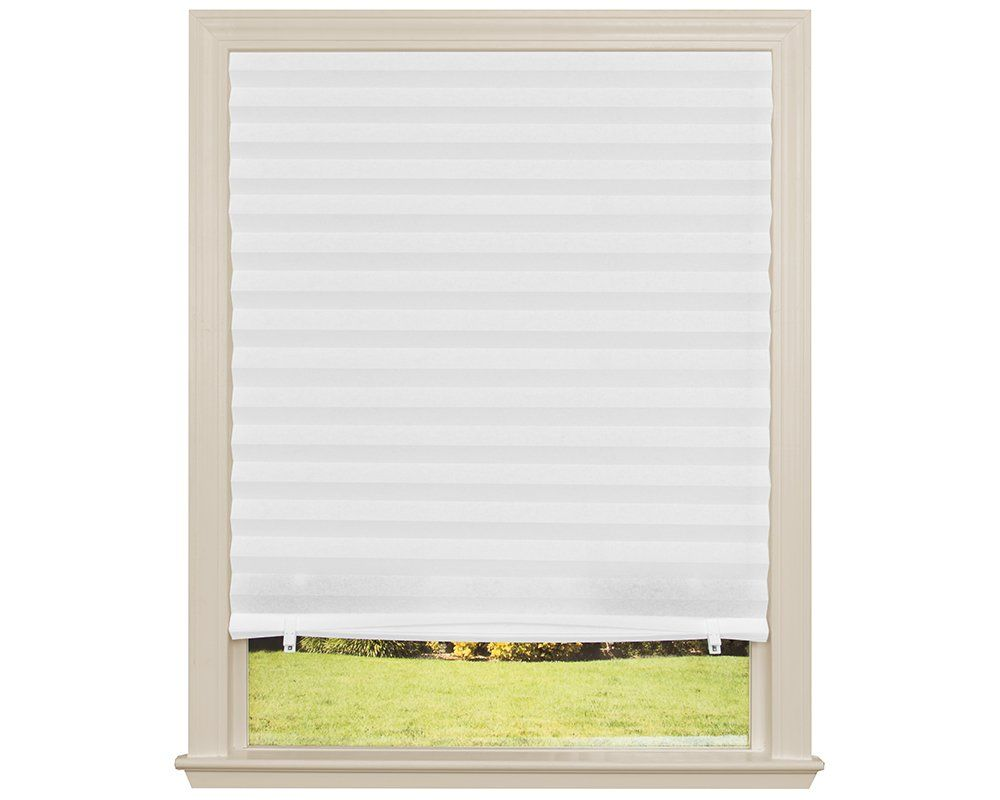 Garden window coverings  original light filtering pleated fabric shade white