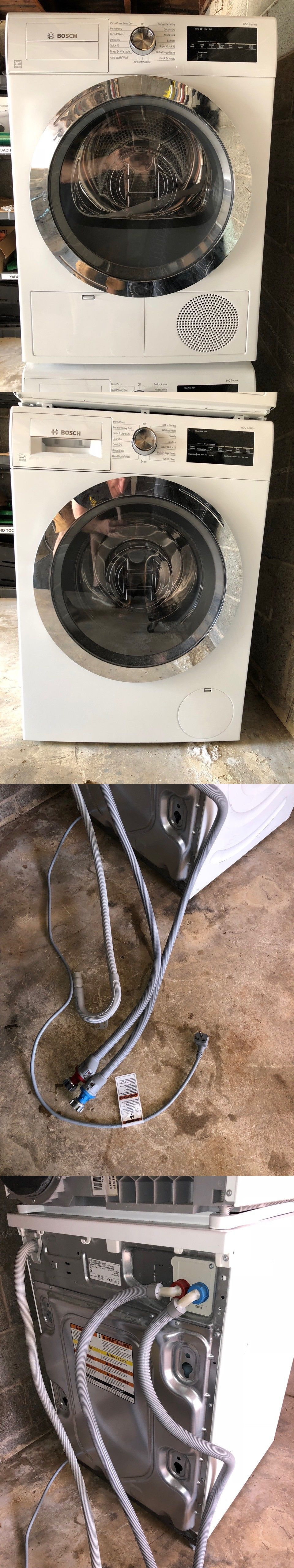 Washer Dryer Combinations And Sets 71257 Bosch 800 Series Washer Dryer Set Stacking Kit Wat28402u Washer Dryer Set Combination Washer Dryer Washer And Dryer