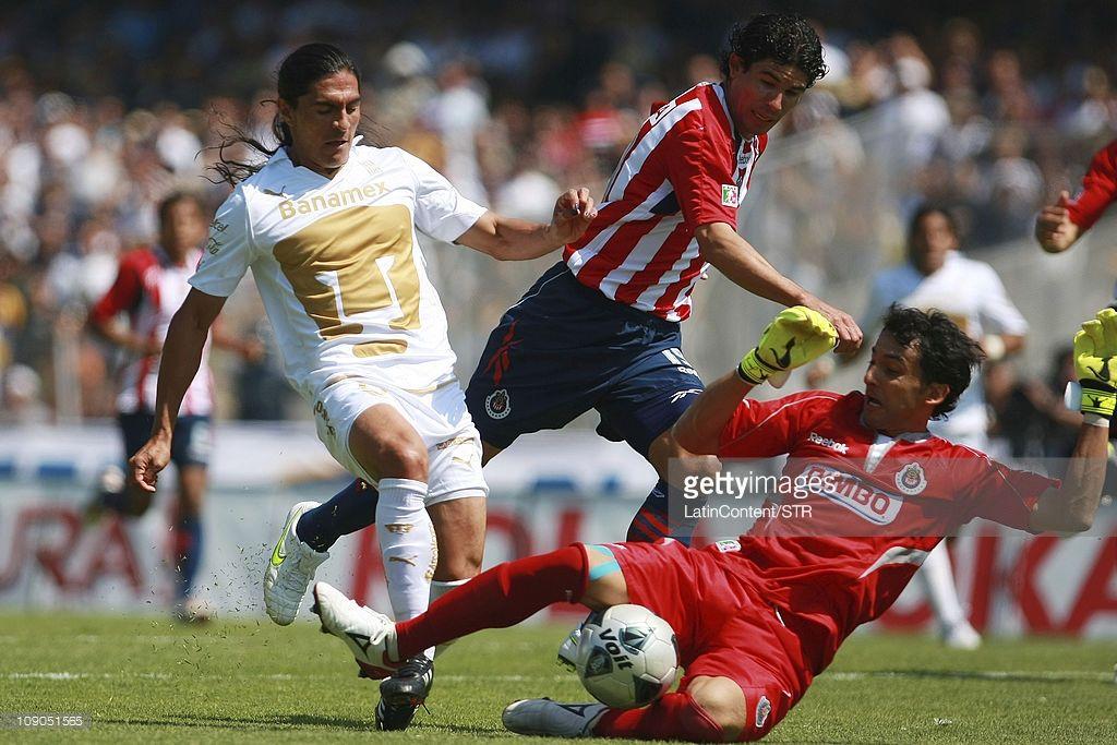 Juan Francisco Palencia Of Pumas Struggles For The Ball With Luis Pumas Palencia Francisco