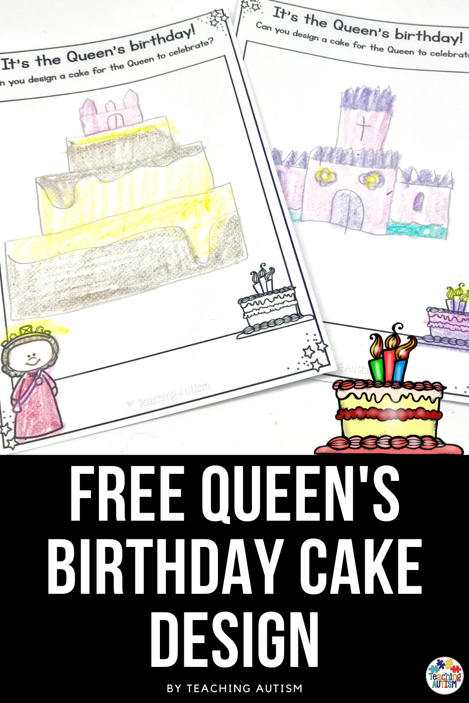 Free Queen S Birthday Cake Design Birthday Activities Queen Birthday Free Birthday Stuff [ 1500 x 1000 Pixel ]