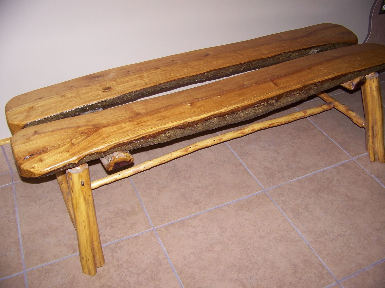 custom made log bench projects for the house and yard pinterest
