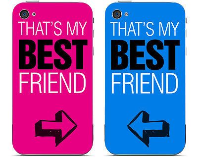 brand new e063f 49883 Personalised Custom Fun Best Friends Set of Two iPhone 4 4s 5 5s ...