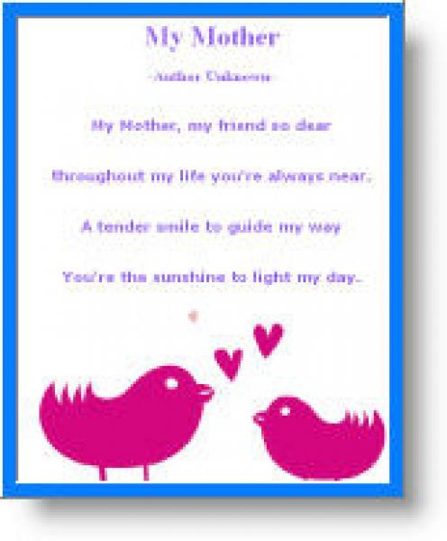 Mothers Day Poems Printable Free – Free Mothers Day Cards Crafts ...