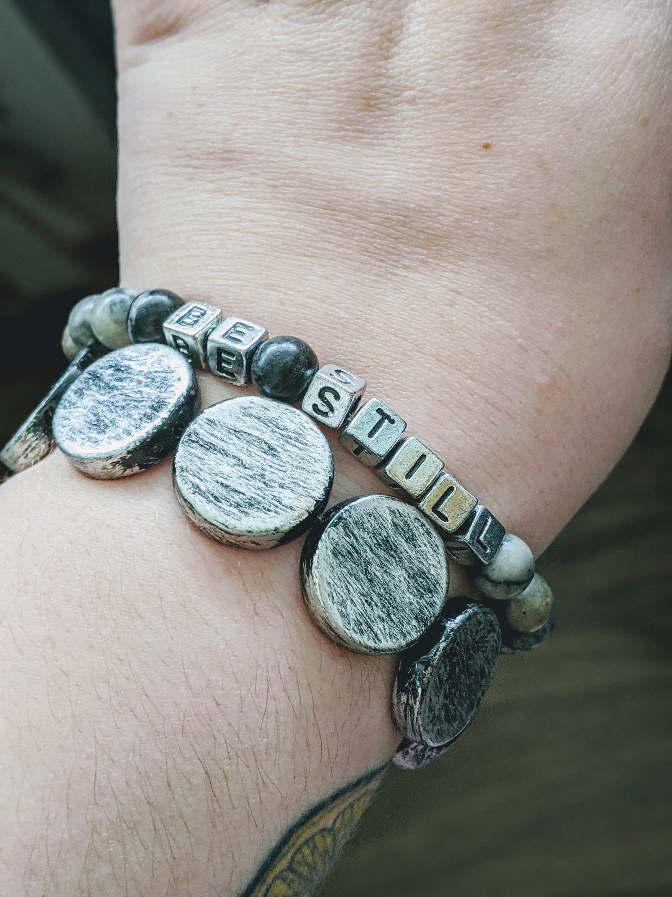 Photo of Be still stretch bracelet duo stack