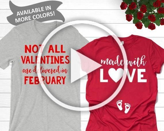 Photo of Couples Valentines Day Pregnancy Announcement Shirts | Made …