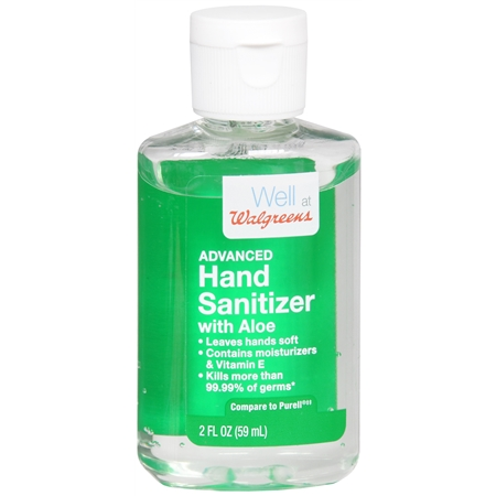 Walgreens Advanced Hand Sanitizer Gel Aloe 2 Oz Wishlist In