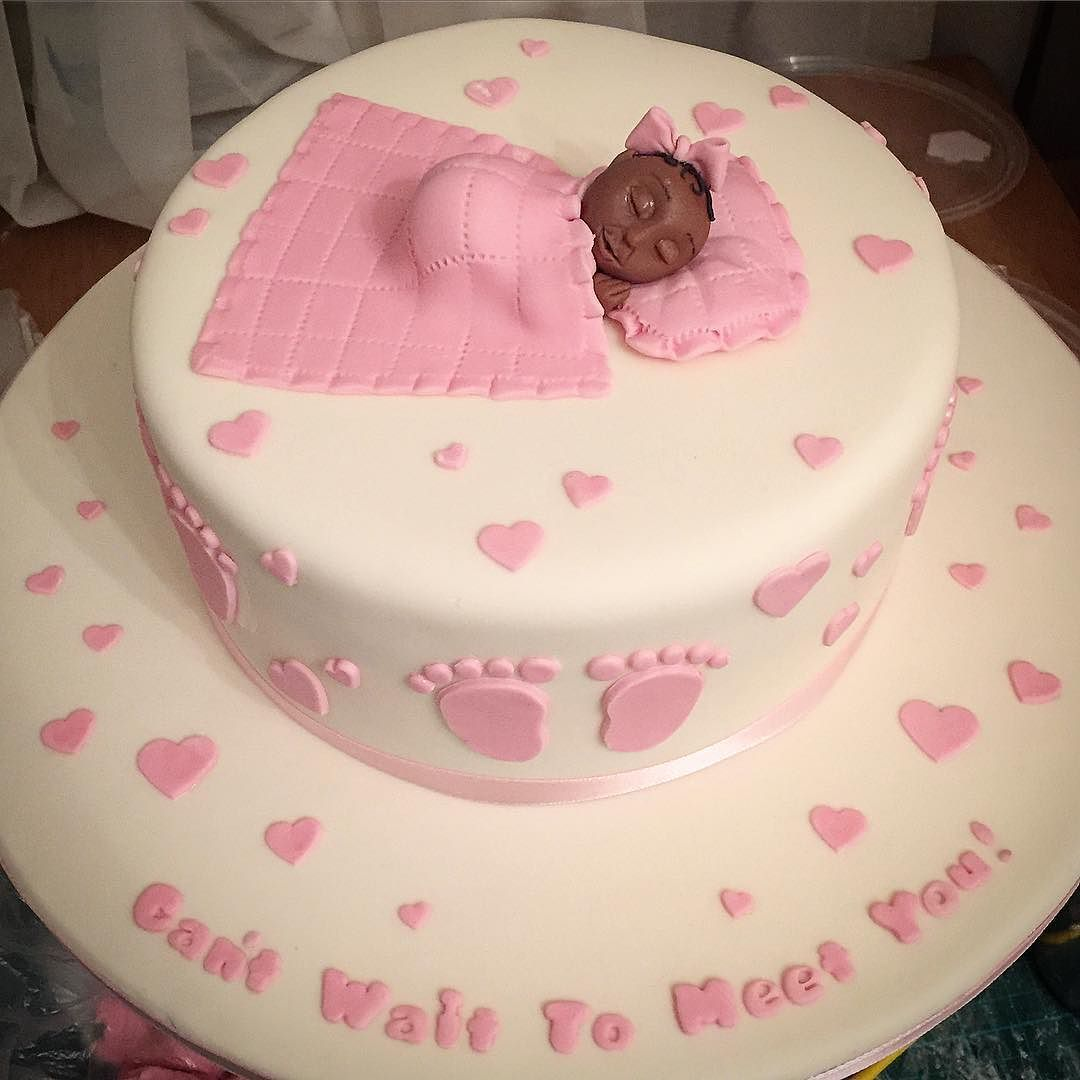 #babyshower #cake #theme #babyshowercake #itsagirl #simple #pretty #ediblebaby #edibleart #art #artist #cakeart #cakeartist #fondant #thejestercakery ...