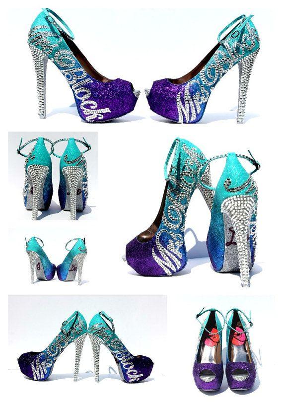 Wedding Shoe, Bridal Shoe: Peep Toe, High Heels, Ankle Strap, Mint ...