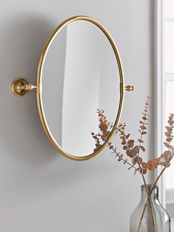 NEW French Oval Mirror Brass in 2020 Mirror, Oval