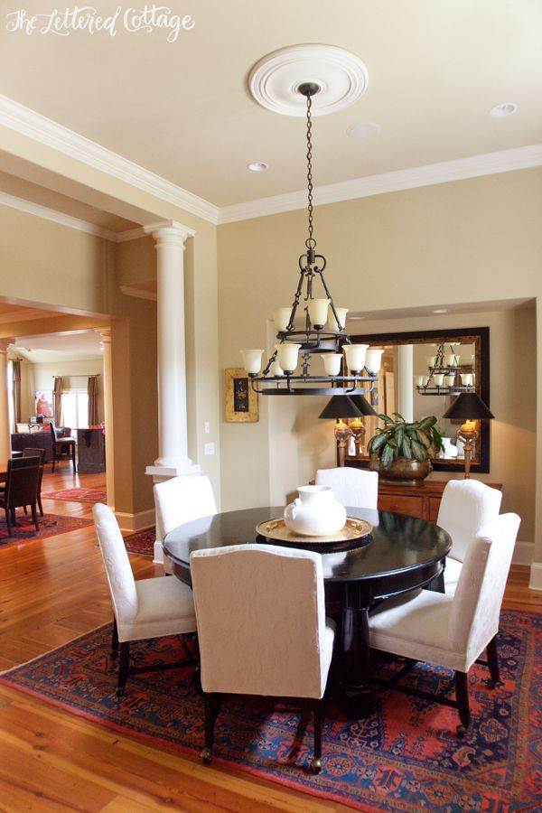Round Dining Room Table Ceiling Medallion