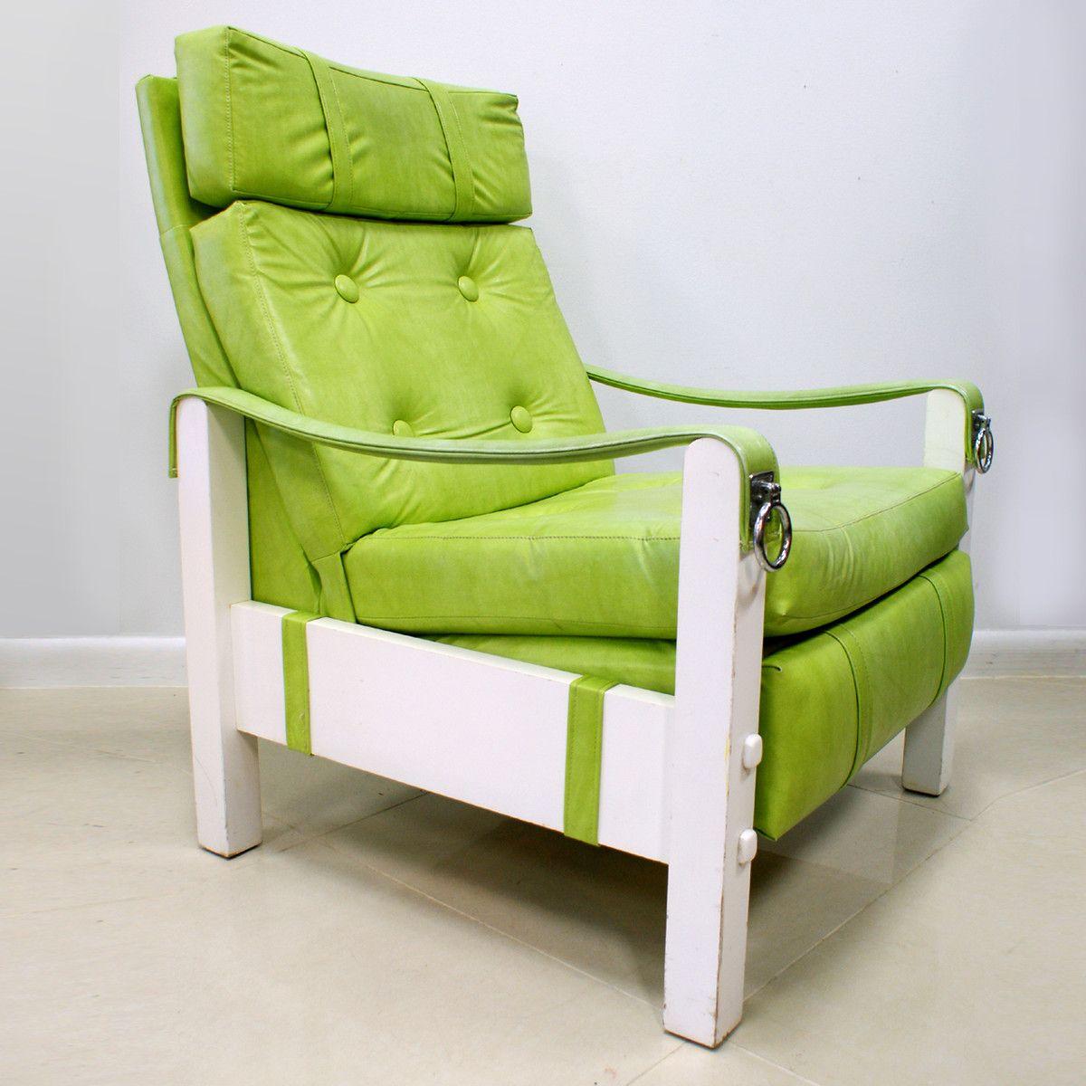 Fab.com   Vinyl Recliner Chair Green