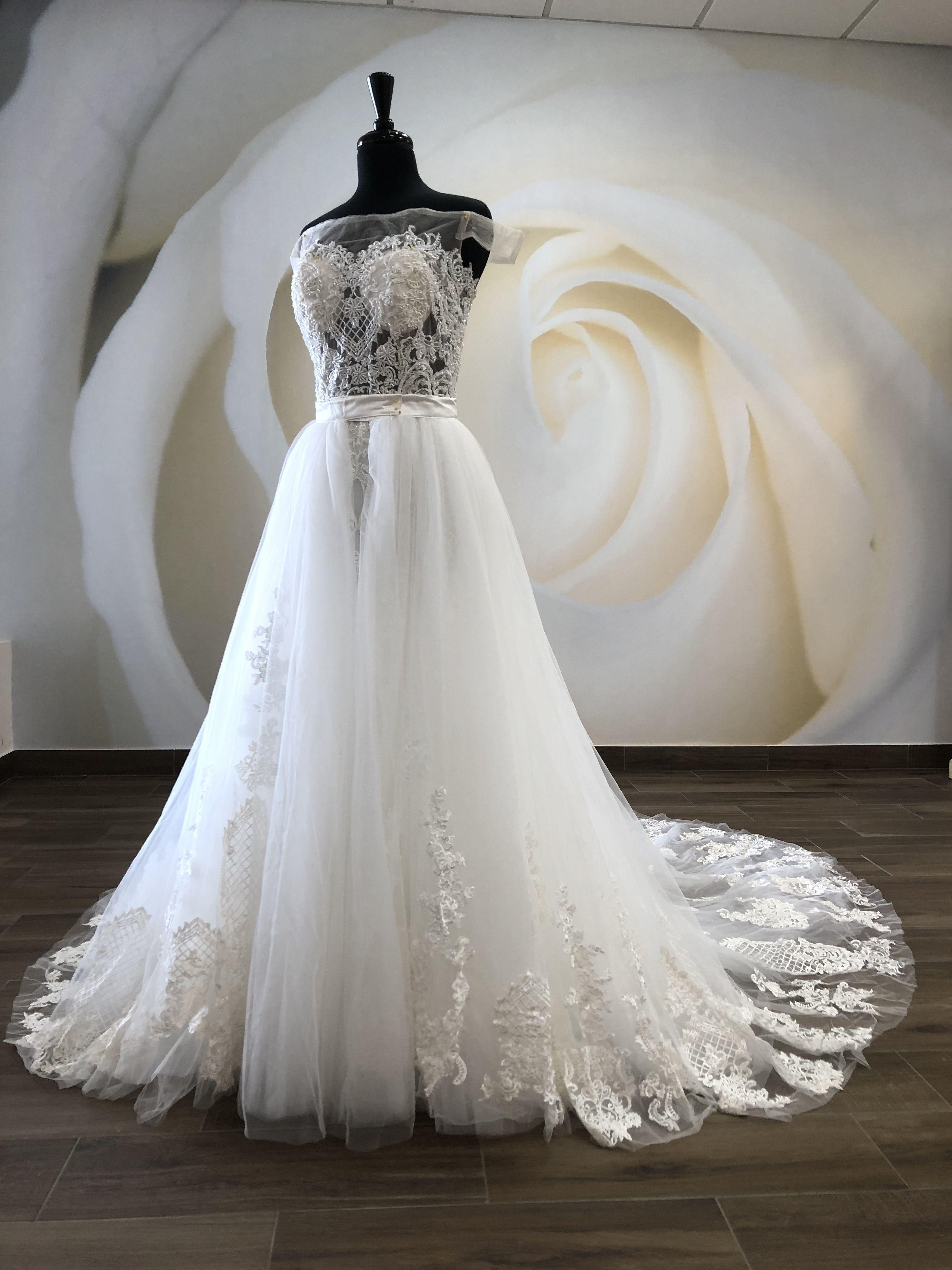 Chicago Dress With Detachable Skirt Wedding Dresses Lace Dresses Detachable Skirt