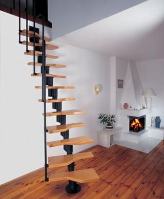 What are attic stairs decoracion pinterest escalera - Escalera caracol prefabricada ...
