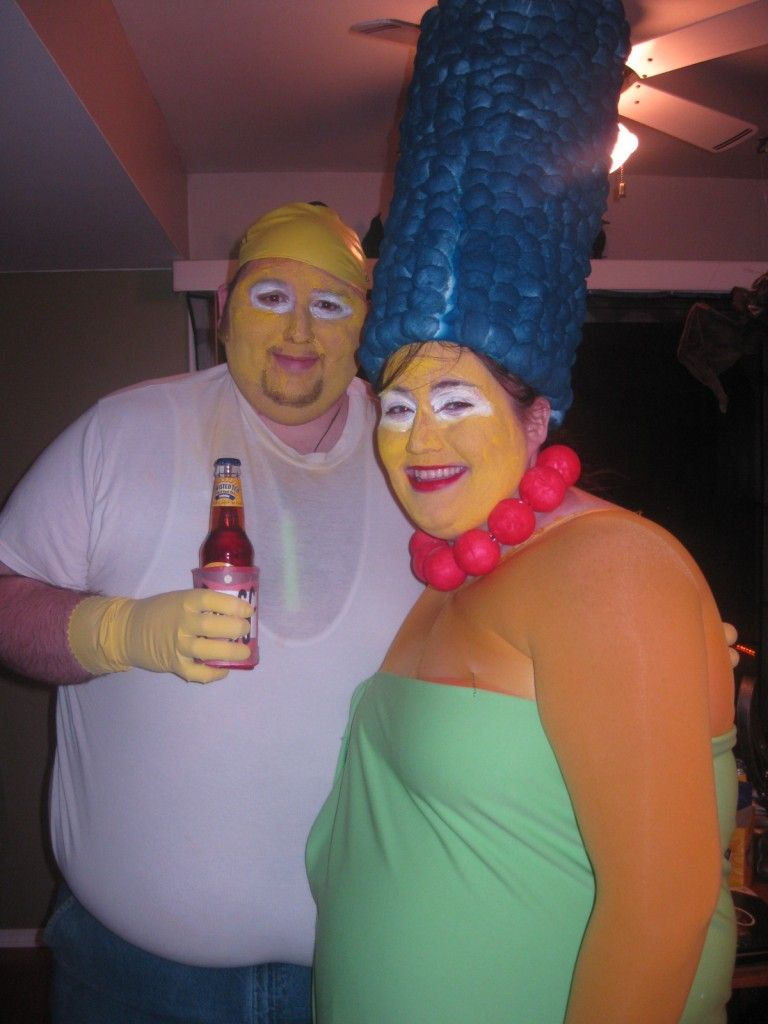 halloween costumes homer and marge simpson - Simpson Halloween Costume