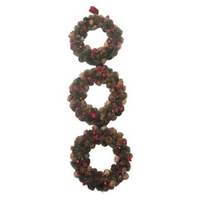 3 Ring Pinecone Wreath