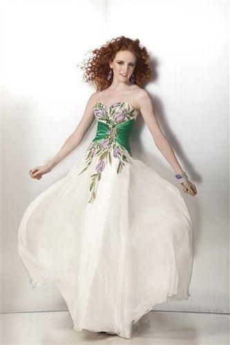 101583c7677 Emerald Sweetheart Chiffon Prom Dress -best choice for my redheads ...