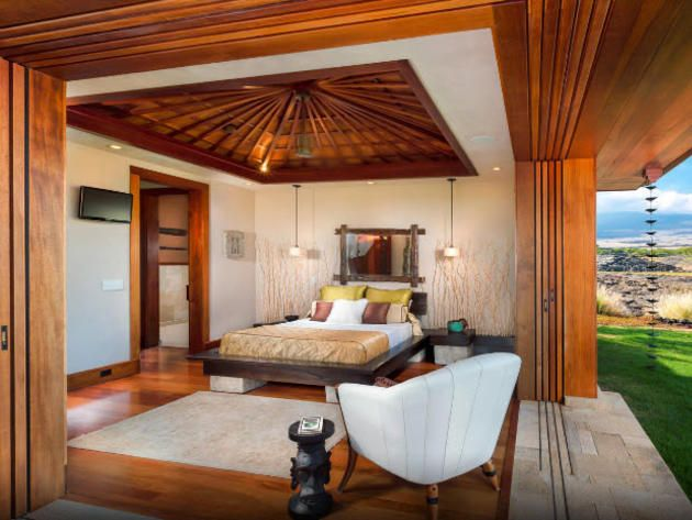 The Best Bedrooms Of Cool Houses Daily: Open Air Bedroom In North Kona,  Hawaii