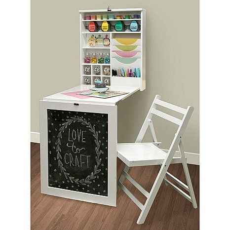 We R Memory Keepers Hanging Fold Down Craft Table At Hsn Com Fold Down Table Craft Table Fold Away Desk