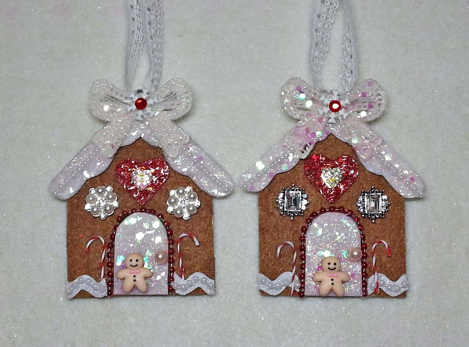 Diy Make A Sparkling Gingerbread House Ornament Easy With Pattern In 2020 Christmas Ornaments To Make Felt Christmas Ornaments Christmas Ornaments Homemade
