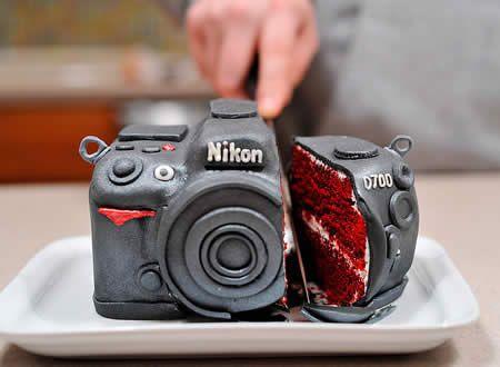camera cake! - strange but cool