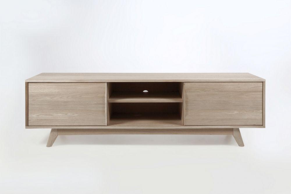 Meuble Tv Design Scandinave En Bois Massif Finition Chene Marini Meuble Tv Design Meuble Tv Et Mobilier De Salon