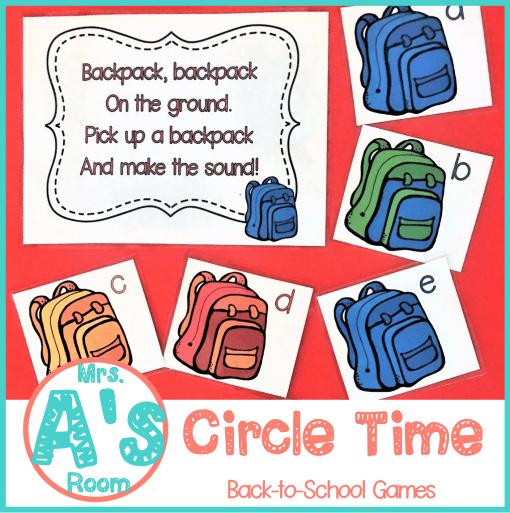Circle Time Games for Back-to-School | Circle time games ...